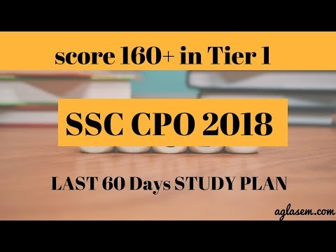 How to score 160+ in SSC CPO 60 Days study plan | Aglasem