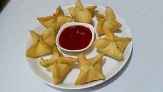 Veg Wonton With Onion, Garlic,tomato Sauce/snacks/easy And Simple Recipe