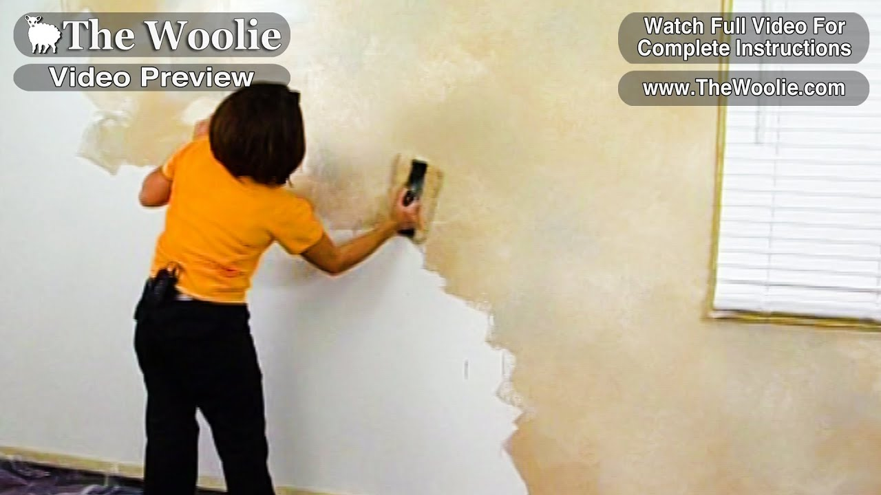 Quick Color Meshing Faux Painting Wall Technique By The Woolie How To Paint Walls Fauxpainting Youtube
