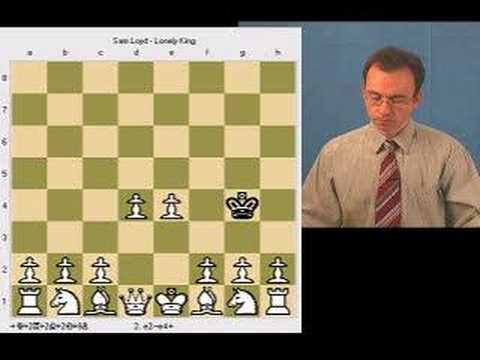 Sam Lloyd's Chess Puzzle: Lonely King on h4 Mated in 3 Moves