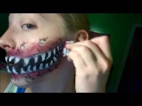 Monster mouth/wicked grin makeup! (Thursday is filling in ...
