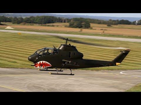 AH-1 Cobra HELI CZECH - Low Pass, Back To Target, Landing