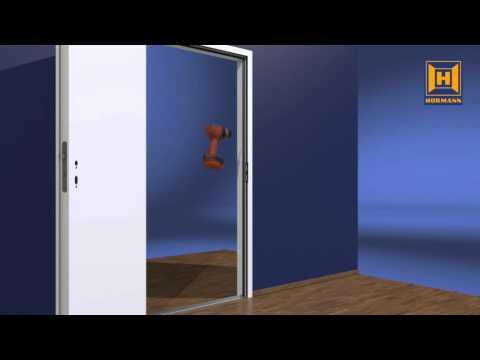 Stahlzarge einbauen  Installation einer DryFix Zarge von Hörmann - YouTube