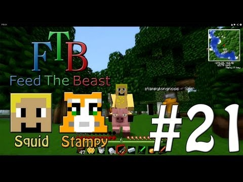 Feed The Beast #21 - Riding On A Pig!! - W/Stampylongnose