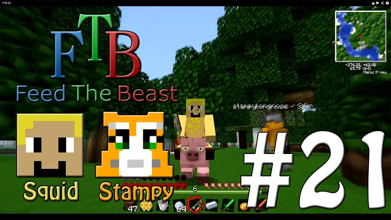 Feed The Beast 21 Riding On A Pig W Stampylongnose