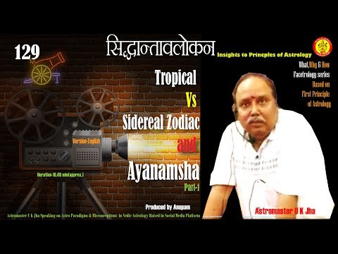 Tropical Vs Sidereal Zodiac And Ayanamsha  --explained By Astromaster U K Jha-Part 1