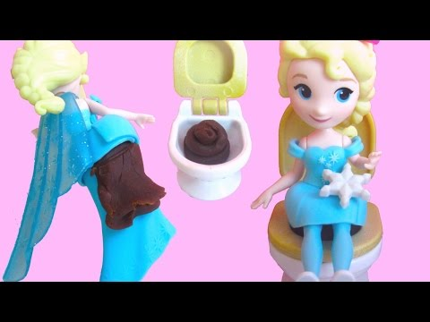 Thumbnail: All Princesses Pee and Poo Use the Potty with Little Kingdom dolls and Play-Doh