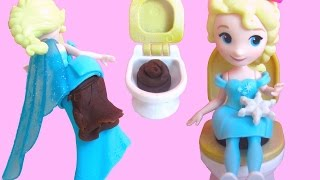 All Princesses Pee and Poo Use the Potty with Little Kingdom dolls and Play-Doh
