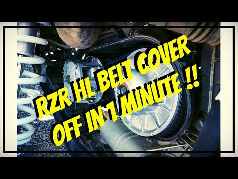 Polaris RZR XP1000 Highlifter belt cover REMOVAL in under a minute?