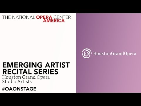 Emerging Artist Recital Series: Houston Grand Opera Studio A