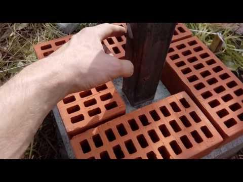 фундамент для кирпичного столба своими руками