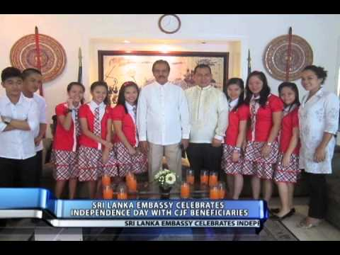 Sri Lanka Embassy in the Philippines Celebrates 65th Independence Day with CJFI Beneficiaries from YouTube · Duration:  25 seconds