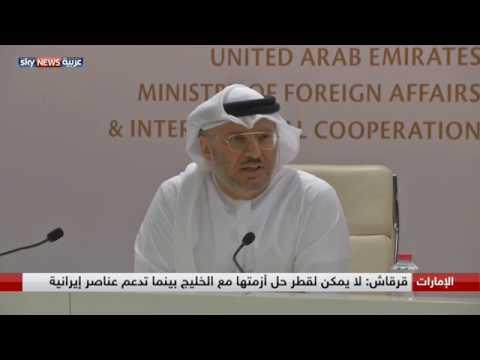 قرقاش: قطر والإخوان متخوفون من تأثير هزيمة الحوثيين عليهم