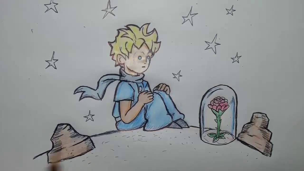 Desenhos Para Colorir Principe: Desenhando O Pequeno Principe Parte 2 Colorindo