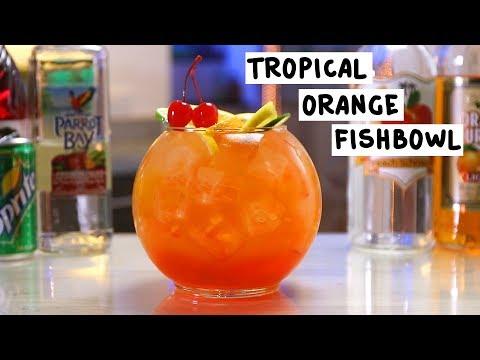 Tropical Orange Fishbowl