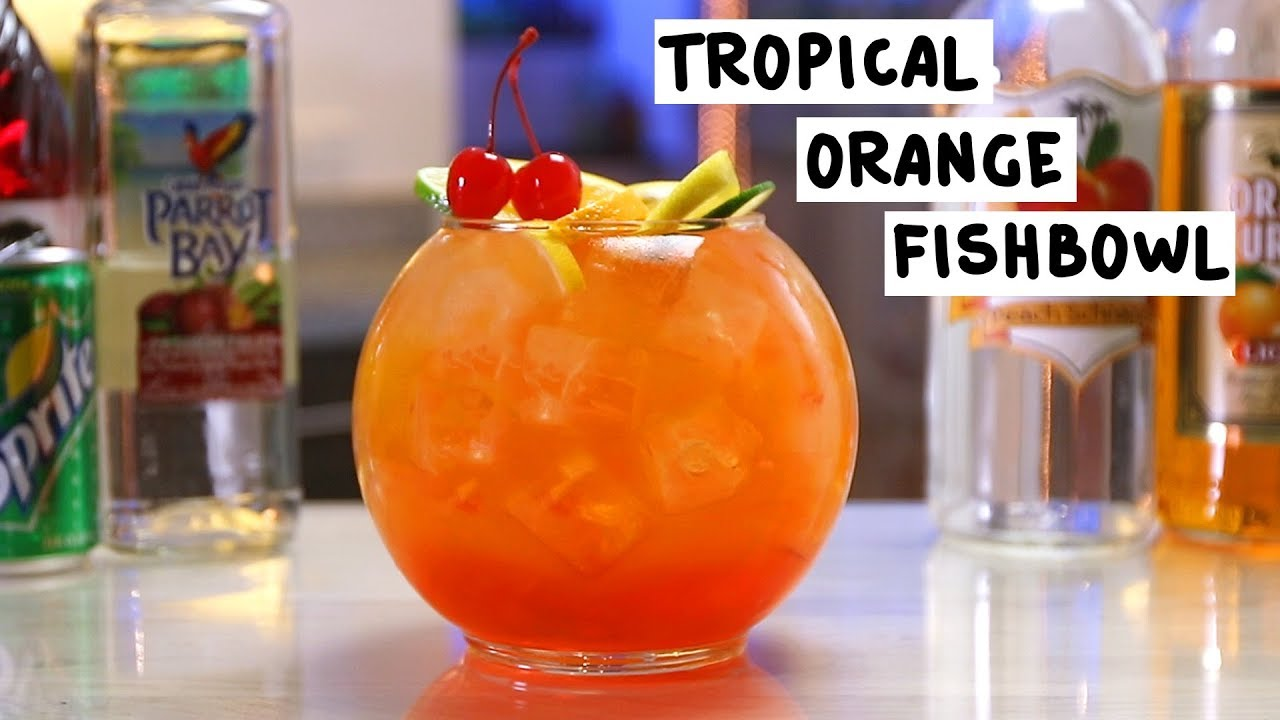 Tropical Orange Fishbowl Tipsy Bartender