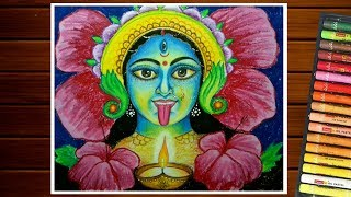 Diwali Drawing Easy How To Draw Maa Kali For Kids By