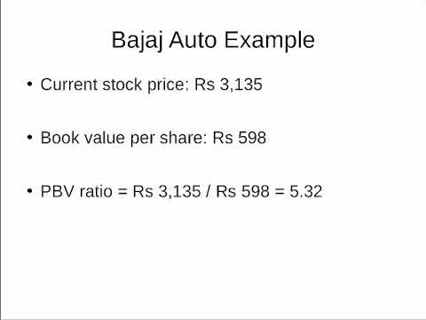 Price to Book Value Ratio (P/BV or P/B ratio ) | Equitymaster