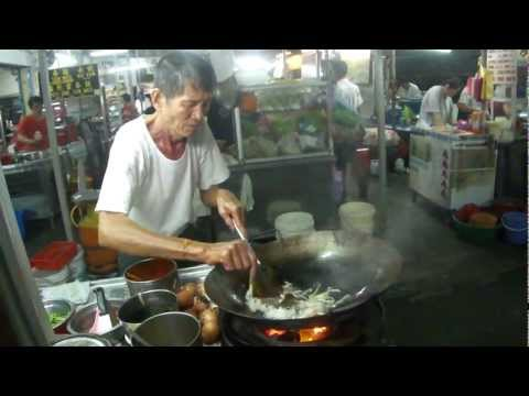 Burma Road Char Koay Teow with charcoal fire