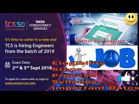 TCS national qualifier test 2018-19 |TCS Ninja Profile| Salary  Package,syllbus & All information