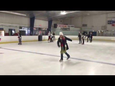 Tara ice skating at Northland Ice Center