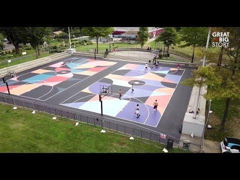 كيف تتحول ملاعب كرة السلة إلى أعمال فنية  - 12:54-2018 / 12 / 1