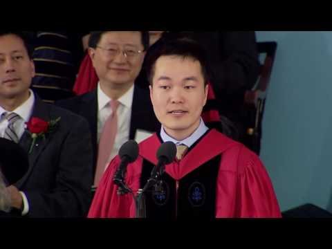 Graduate Speaker Jiang He  | Harvard Commencement 2016