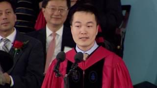 Graduate Speaker Jiang He  | Harvard Commencement 2016 thumbnail