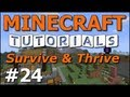 Minecraft Tutorials - E24 Boating and Villages (Survive and Thrive II)