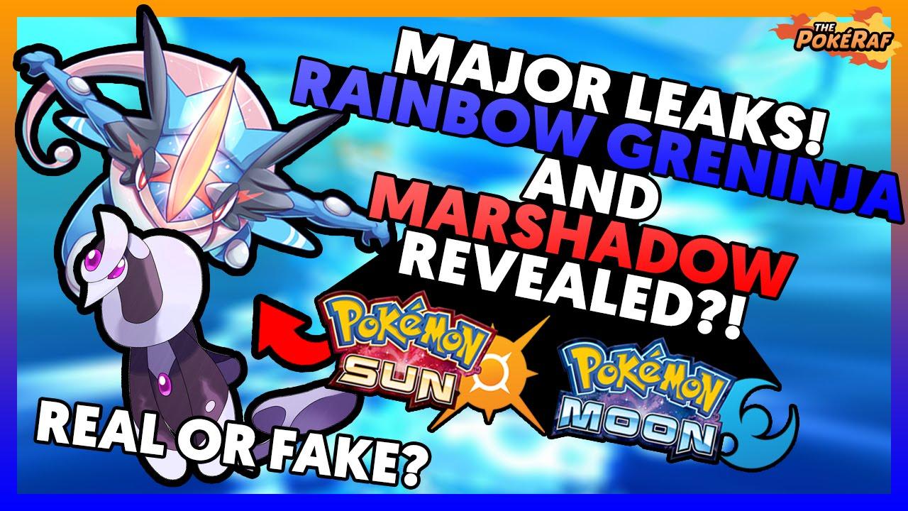 Pokémon Sun and Moon | New Major Leaks?! Rainbow Greninja ...