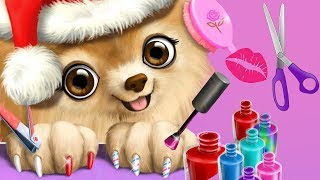 Fun Animal Care Games - Santa Christmas Pet Hair Salon, Color, Style & Dress Up Makeover Kids Games