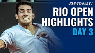 Garin Keeps Rolling; Coria Reaches First ATP Quarter-Final | Rio 2020 Day 3 Highlights