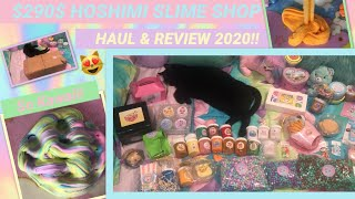 💜$270$ FAMOUS SLIME SHOP REVIEW 2020!!💜 HOSHIMI SLIME SHOP REVIEW, HAUL, UNBOXING