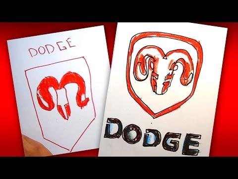 Как рисовать логотип DODGE   How To Draw A DODGE Logo