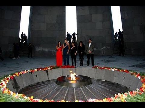 The Kardashians visit the Armenian Genocide Memorial Complex (Tsitsernakaberd)
