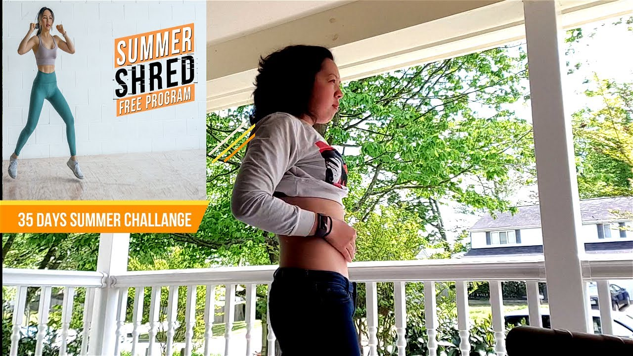 I completed Chloe Ting's  35 Days Summer Shred Challenge!!! Workout Results (Before And After)