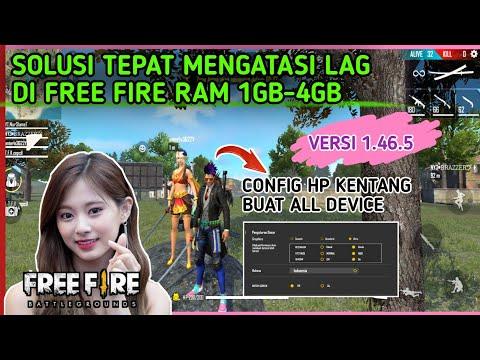 FIX LAG FREE FIRE !!! Cara Mengatasi Lag Di HP Ram 1GB-3GB -- Versi Terbaru - 동영상