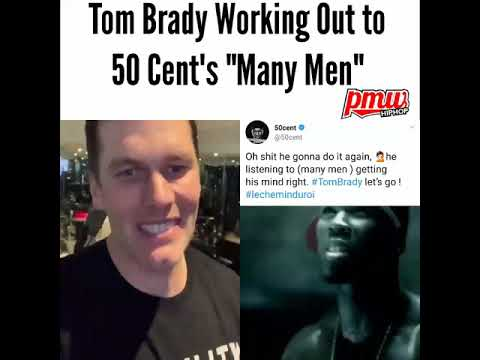 """Tom Brady working out to 50 Cent's """"Many Men"""""""