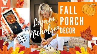 🍁FALL FRONT PORCH DECORATE WITH ME🍁Let's transform our porch for fall together!