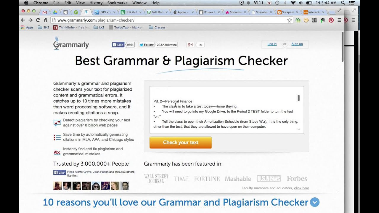 The Grammarly Plagiarism Statements