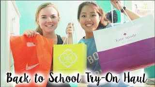 HUGE Try-On Back to School Clothing Haul: Kendra Scott, Nike, Kate Spade, Madewell, + More