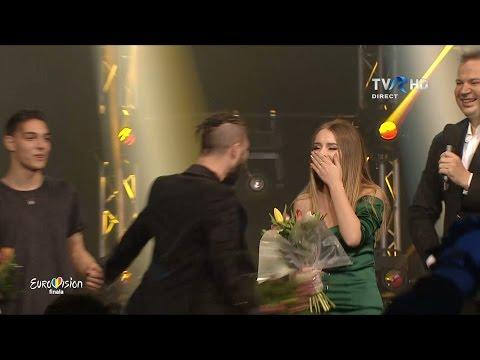 Anunţul câştigătorului Eurovision România 2017