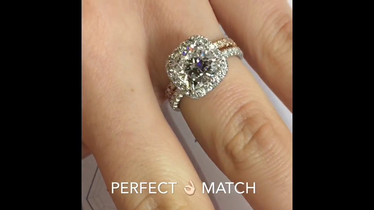 3 Carat Cushion Cut Diamond Halo Engagement Ring