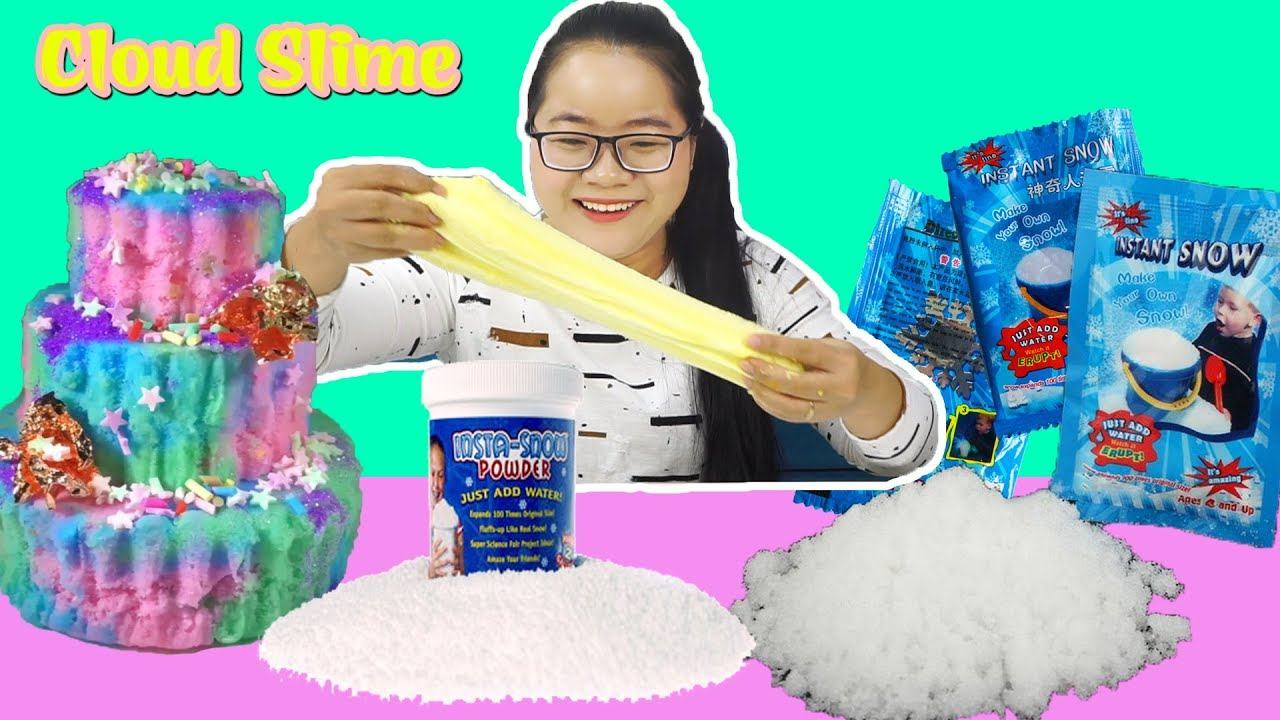 how to make fake snow for cloud slime