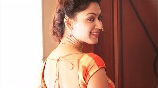 Manjari Phadnis gorgeous in Maharashtrian Style Saree & Backless Blouse.(No Audio)