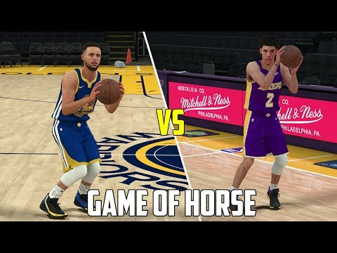 Can Lonzo Ball Beat Stephen Curry In A Game of HORSE? NBA 2K18 Gameplay!