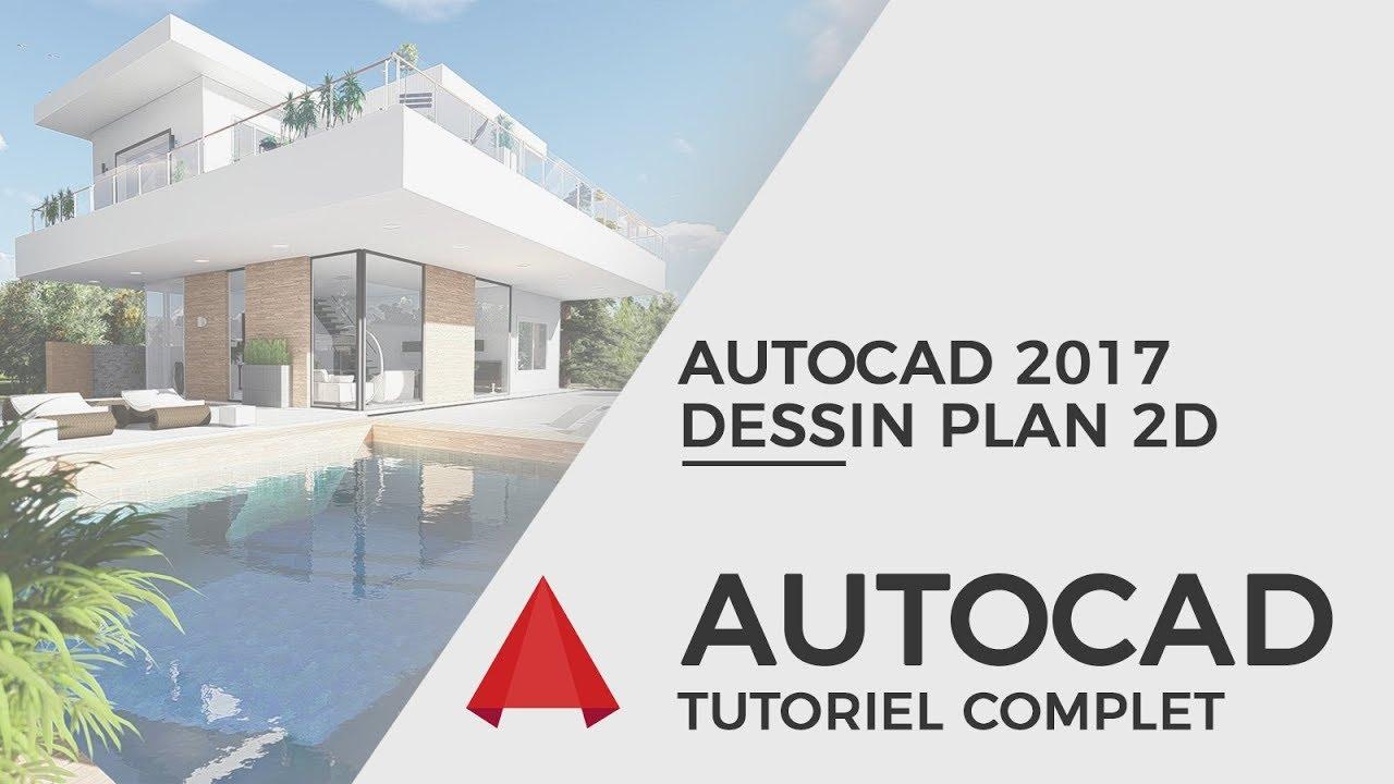 Tutoriel Autocad 2017 - Dessin plan maison RDC en 25 minutes - YouTube