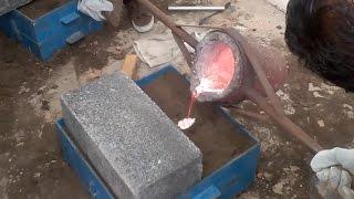 Fundición de Aluminio a partir de Latas Recicladas
