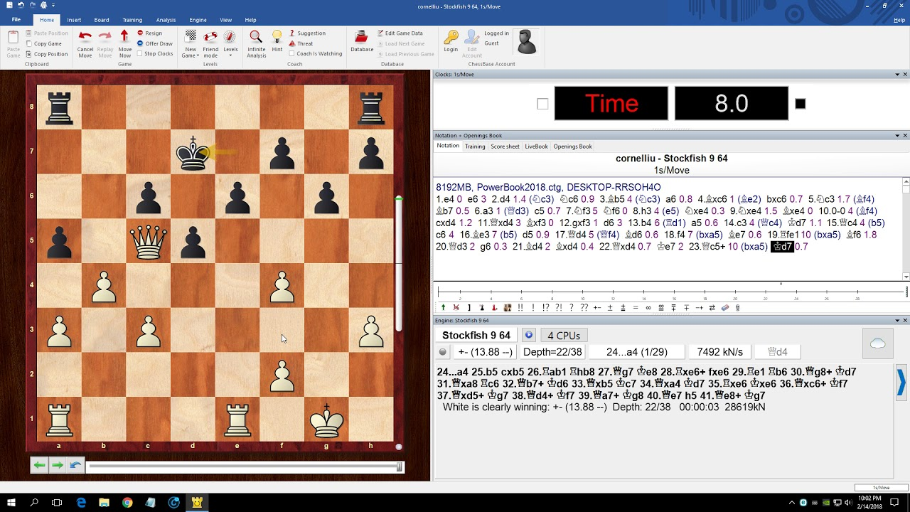 I Defeated Stockfish 9 (Stockfish 9 Without Queen)
