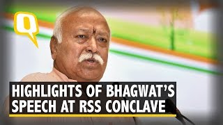 10 Key Highlights From Mohan Bhagwat's RSS Conclave Address | The Quint